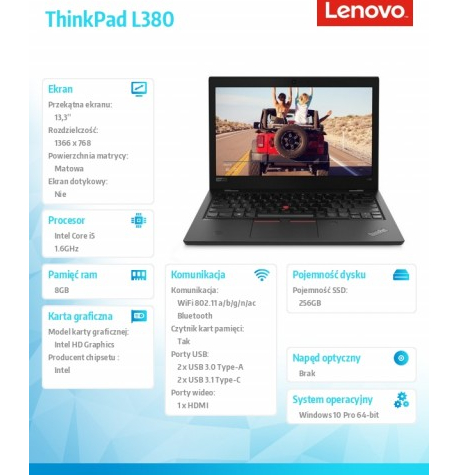 Laptop Lenovo ThinkPad L380 13. 20M5000YPB